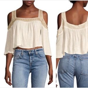 Raga Rosalie cold shoulder cropped blouse